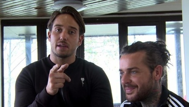 TOWIE: James 'Lockie' Lock speaks to Pete Wicks about his relationship with Danielle Armstrong. 29 November 2015.