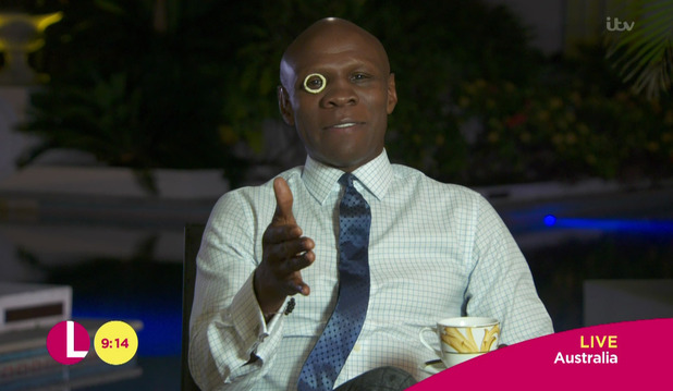 Chris Eubank appears on 'Lorraine' after his exit from the 'I'm A Celebrity... Get Me Out Of Here!' jungle. 2 December 2015.