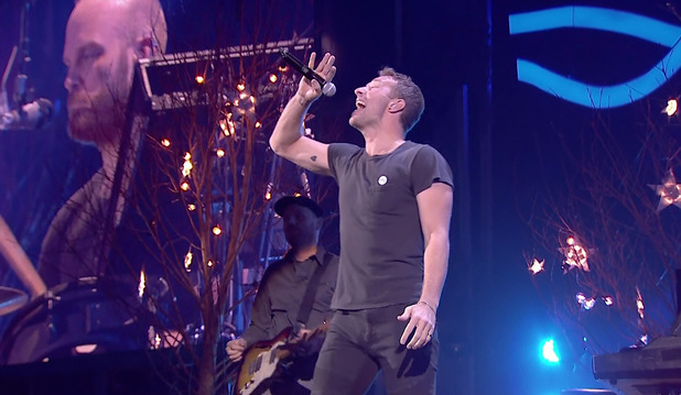 Coldplay performing at the 'BBC Music Awards'. Shown on BBC1 HD. 11 December 2014.