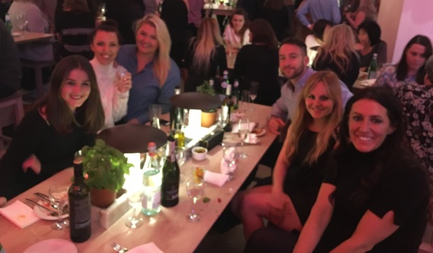 Brooke Vincent Blog: Brooke at dinner with Tina O'Brien and friends 2 December