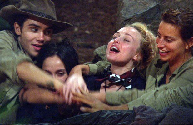 Ferne McCann, George Shelley, Jorgie Porter and Vicky Pattison reminisce in the jungle, 5 Dec 2015