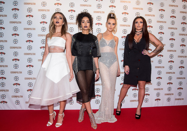 Little Mix stars, Jade Thiirlwall, Jesy Nelson, Perrie Edwards, Leigh-Anne Pinnock attend Cosmpolitan Ultimate Women of The Year Awards 2015 in London, 2nd December 2015