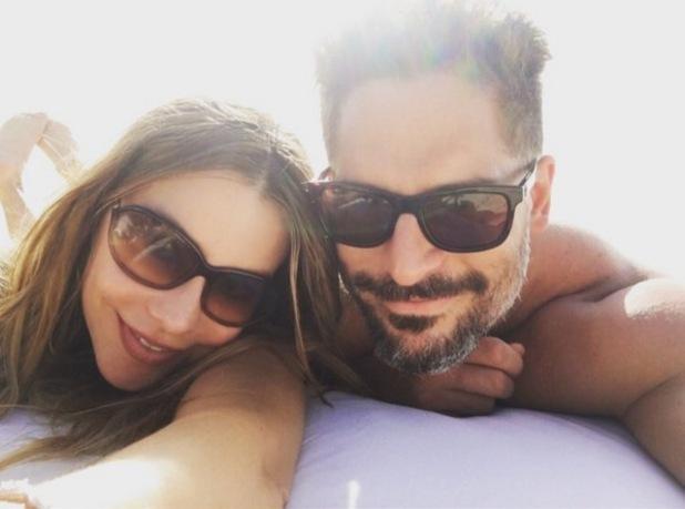 Sofia Vergara and Joe Manganiello on their honeymoon in Parrot Cay 1 December