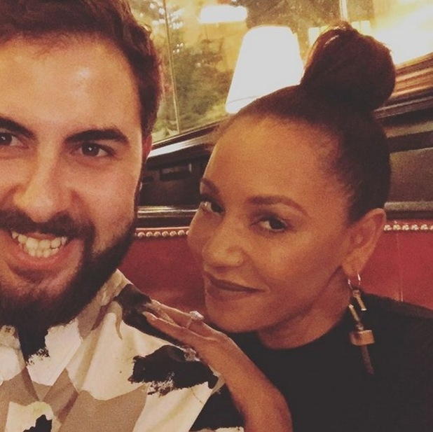Mel B and Andrea Faustini reunite over dinner - 1 December 2015.