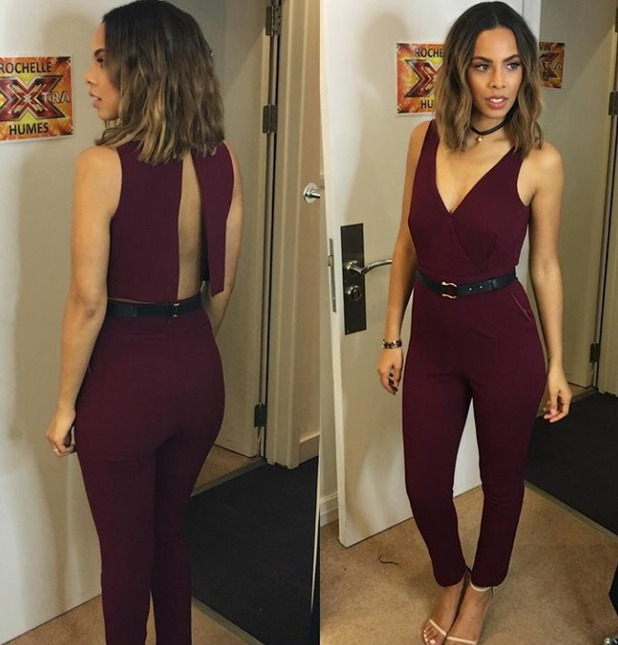 Rochelle Humes' jumpsuit outfit on Instagram, 5/12/15