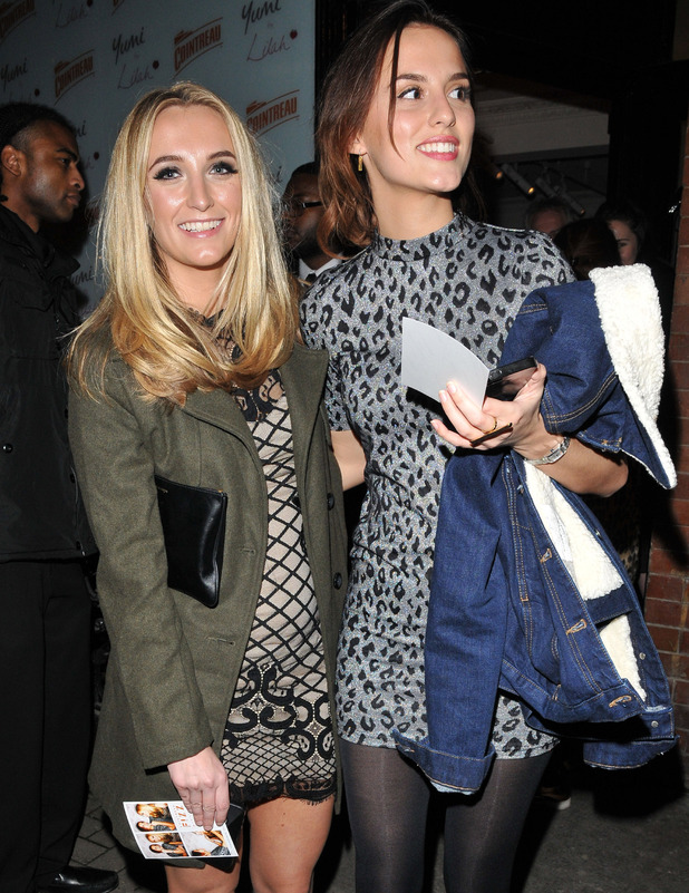 Lucy Watson and Tiffany Watson attend the Yumi x Lilah Parsons launch party in London, 2nd December 2015