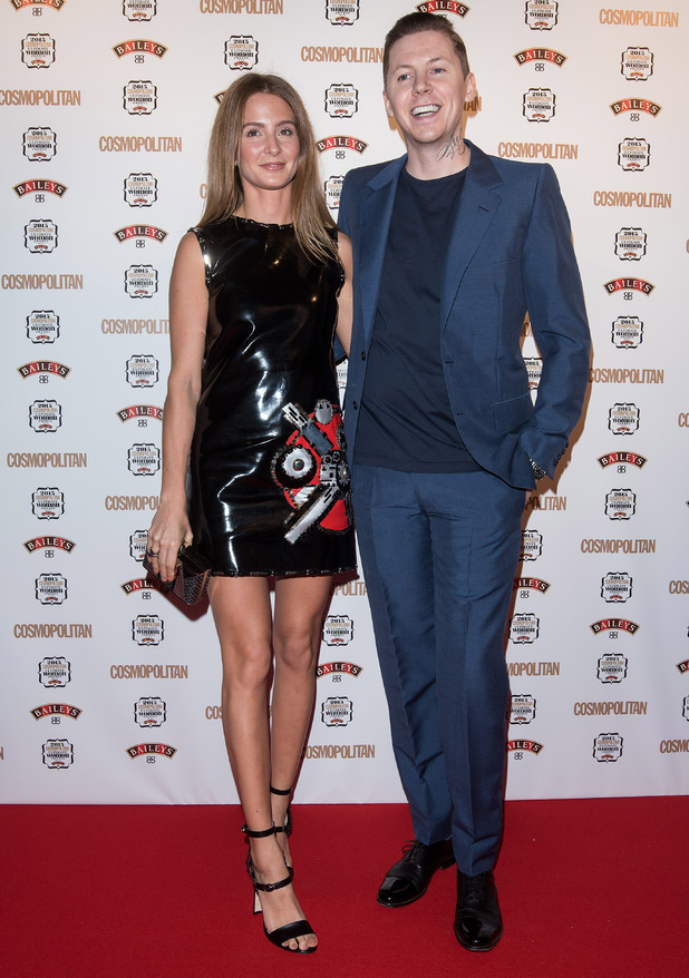 Millie Mackintosh and Professor Green attends the Cosmopolitan Ultimate Women Of The Year Awards held at One Mayfair, 2nd December 2015