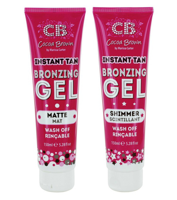Cocoa Brown Instant Tan Bronzing Gel Shimmer