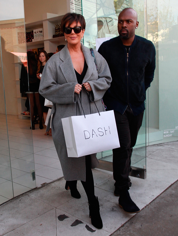 Kris Jenner leaving Kylie Jenner's Lip Kit product release party at Dash with boyfriend Corey Gamble