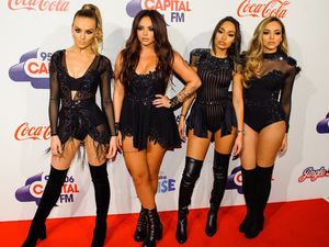 Perrie Edwards, Jesy Nelson, Leigh-Anne Pinnock and Jade Thirlwall from Little Mix attend the Jingle Bell Ball at The O2 Arena on December 6, 2015 in London, England.