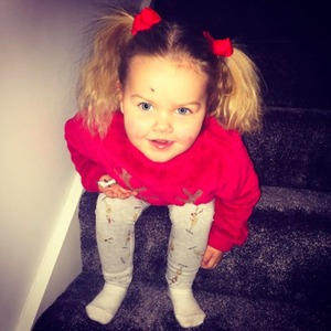Imogen Thomas shares pictures of daughter Ariana, 12 December 2015.