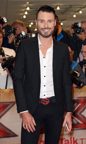 Rylan Clark attends the press launch of The X Factor in London, August 2015