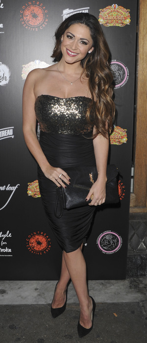 Casey Batchelor attends a charity fundraiser in aide of The Stroke Association, 9th December 2015