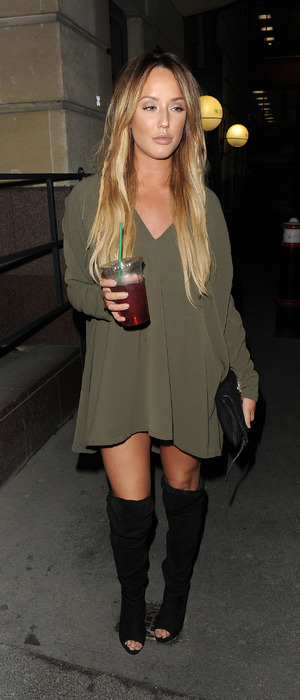 Geordie Shore's Charlotte Crosby seen at Turntable Bar in Holborn, London, 9th December 2015