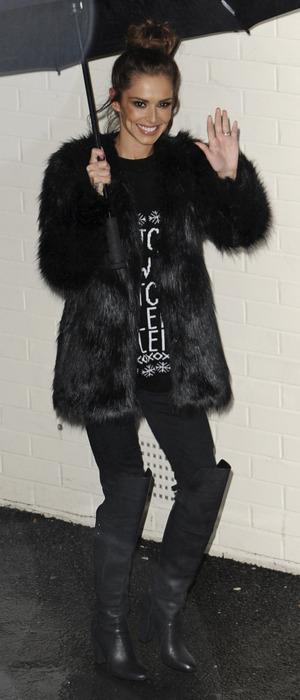 Cheryl Fernandez-Versini leaves The X Factor, London 6 December