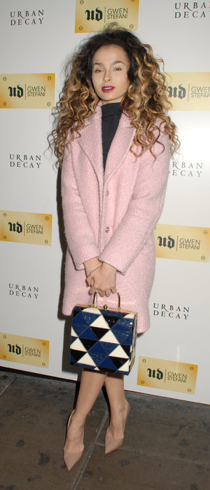 Ella Eyre attends the Urban Decay X Gwen Stefani dinner in pink, London, 9th December 2015