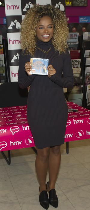 X Factor runner up Fleur East at HMV Birmingham meeting fans and signing copies of her debut album