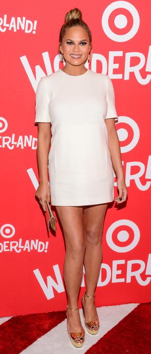Chrissy Teigen attends the Target Wonderland launch event in New York 8th December 2015
