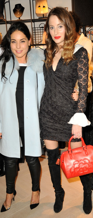 Made in Chelsea's Rosie Fortescue and Louise Thompson at London boutique launch, 11th December 2015