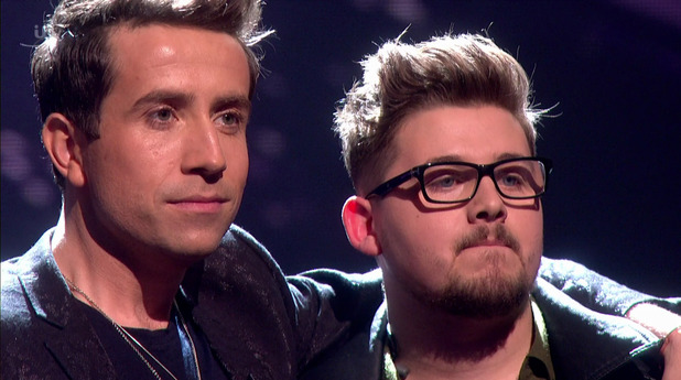 X Factor: Che Chesterman and Nick Grimshaw on the results show. 6 December 2015.