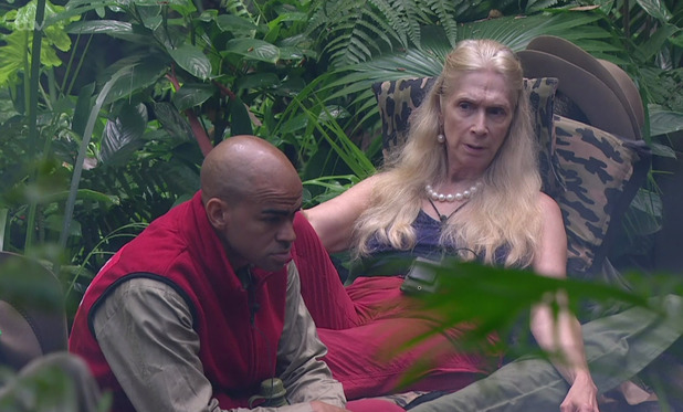 I'm a Celebrity...Get Me Out of Here! Lady C and Kieron Dyer in camp. 1 December 2015.