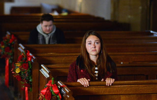 EastEnders, a stranger follows Stacey, Tue 15 Dec