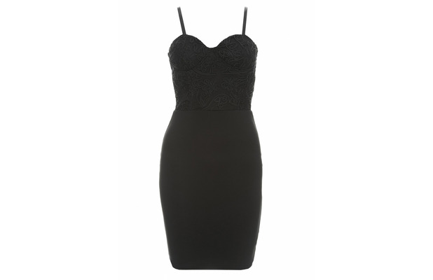 AX Paris Black Dress with lacy bodice and skin-tight skirt £35, 9th December 2015