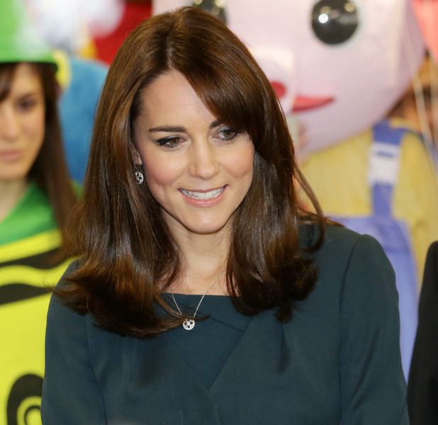 The Duchess of Cambridge Kate Middleton attends ICAP's 23rd Annual Charity Day, shows off shorter hair, London, 9th December 2015