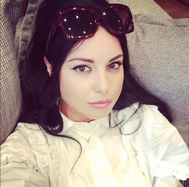 Made in Chelsea star Louise Thompson shows off black hair on Instagram, 8th December 2015