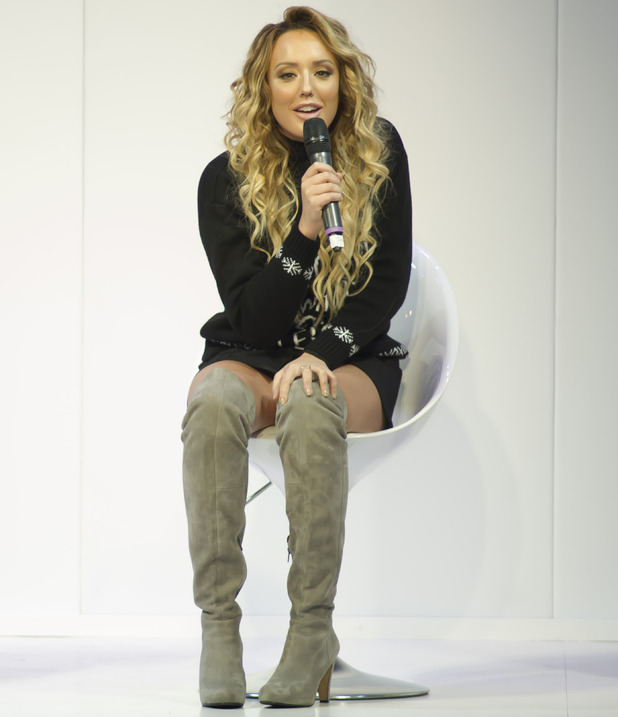 Charlotte Crosby is interviewed on stage by Antonia O'Brien, The Clothes Show 2015 - Day 4, 7 November 2015