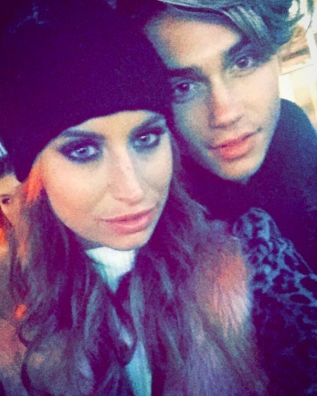 Ferne McCann and George Shelley at Winter Wonderland in London, December 2015.