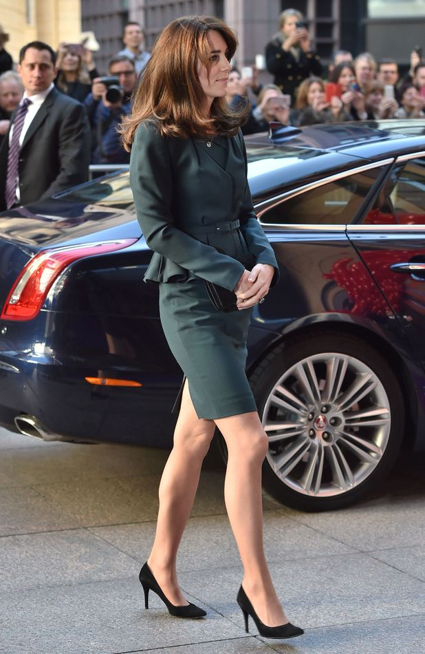 The Duchess of Cambridge Kate Middleton seen with much shorter hair, attends ICAP's 23rd Annual Charity Day, London, 9th December 2015