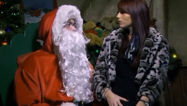 TOWIE series one: Amy sits on Santa's knee