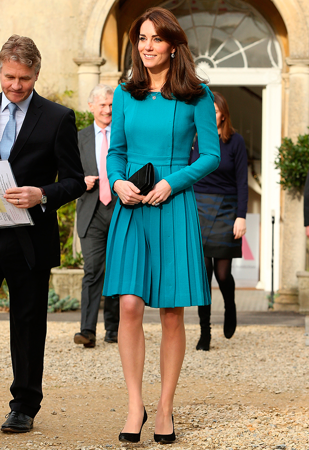 Catherine, Duchess of Cambridge attends an official visit to the Action on Addiction Centre for addiction treatment studies at Action on Addiction Centre on December 10, 2015 in Warminster, England. (Photo by Danny Martindale/WireImage)