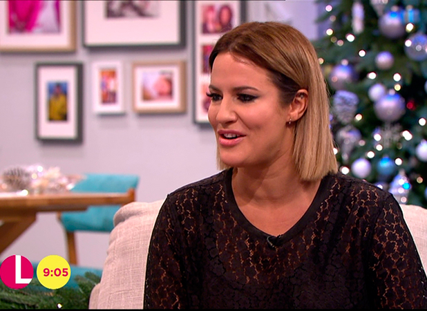 Caroline Flack promoting her autobiography 'Storm in a C Cup' on 'Lorraine'. Broadcast on ITV1 HD.