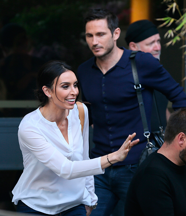 Frank Lampard and Christine Bleakley outside ITV Studios 2015, May