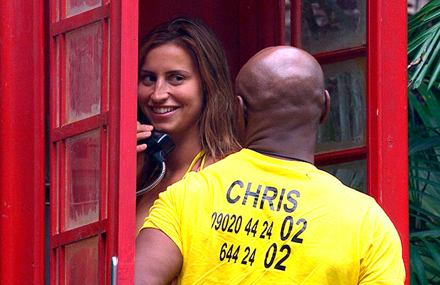 'm A Celebrity...Get Me Out Of Here!' TV show, Australia - 27 Nov 2015 Bushtucker Trial - Steps to Hell: Chris Eubank and Ferne McCann Botch Their Phonecall Decison.