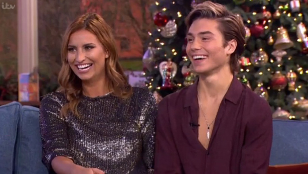 George Shelley and Ferne McCann on This Morning, 10 Dec 2015
