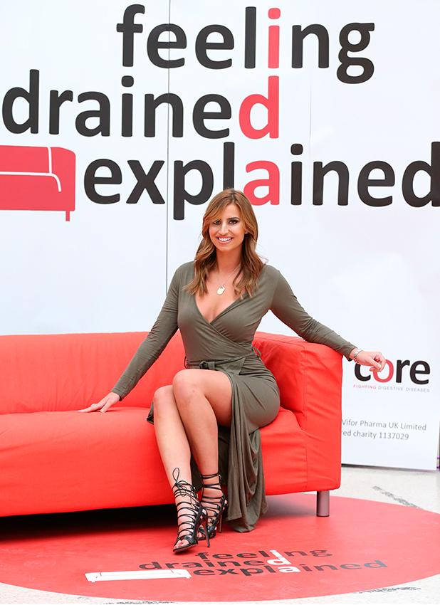 'Feeling Drained Explained' campaign launch, London, Britain - 11 Dec 2015 Ferne McCann