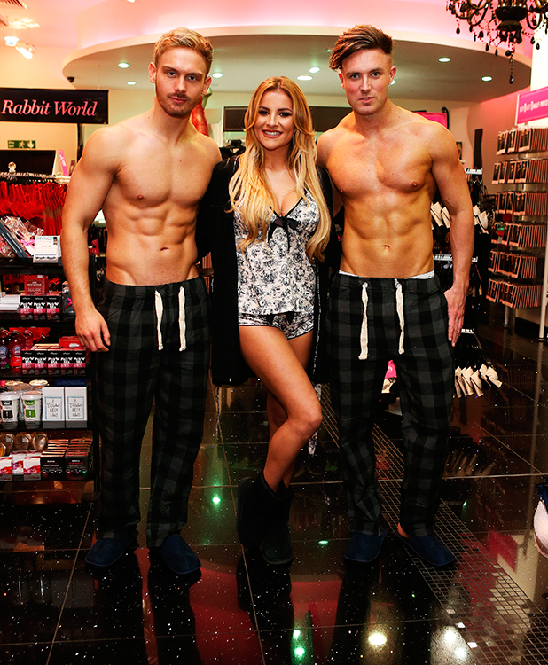 Georgia Kousoulou hosts Ann Summers Pyjama party with with Male models from Adonis in Bluewater 10 Dec 2015