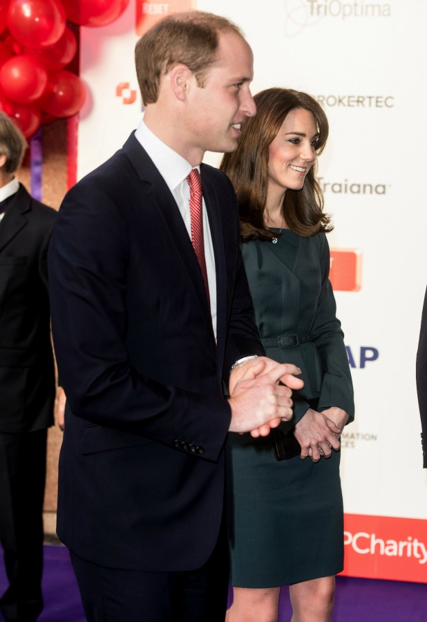 The Duchess of Cambridge, Prince William ICAP Charity Day 9 Dec 2015