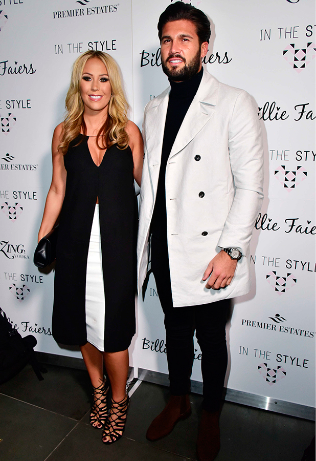 In The Style by Billie Faiers launch party, London, Britain - 10 Dec 2015 Kate Wright, Dan Edgar