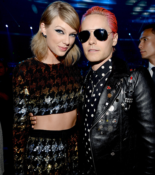 Taylor Swift and Jared Leto attend the 2015 MTV Video Music Awards at Microsoft Theater on August 30, 2015 in Los Angeles, California.