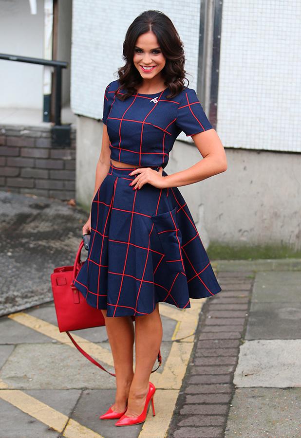 Vicky Pattison outside ITV Studios 10 Dec 2015