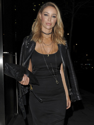 Lauren Pope seen arriving at the Sushi Zuma East London, 17th December 2015