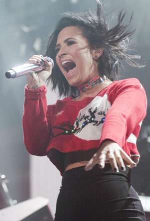 Demi Lovato performs at iHeart Radio Y100 Jingle Ball at the BB&T Center, Florida - 18 Dec 2015