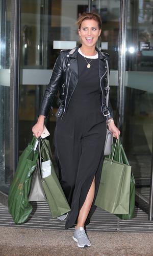 Ferne McCann outside ITV Studios, 15th December 2015