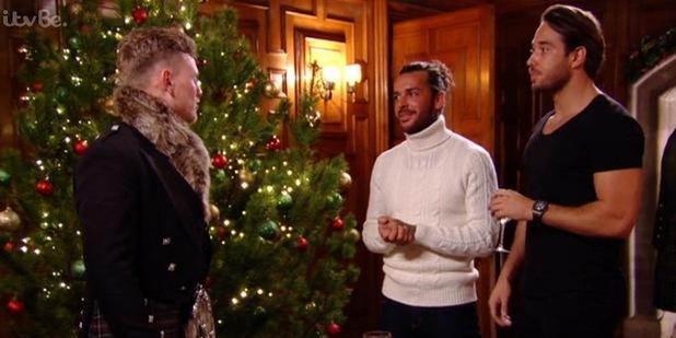 Tommy Mallet makes Lewis Bloor joke, TOWIE Essexmas 16 December