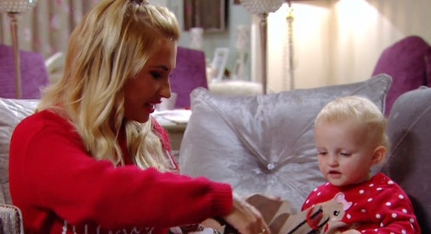 Nelly's unimpressed face, TOWIE Essexmas 16 December