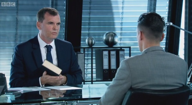 Joseph Valente being tested during The Apprentice interviews 16 December